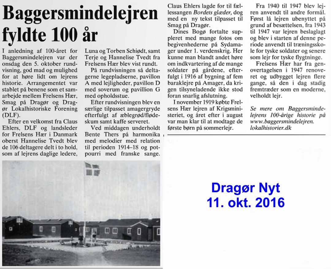 Baggersmindelejren - Dragør Nyt