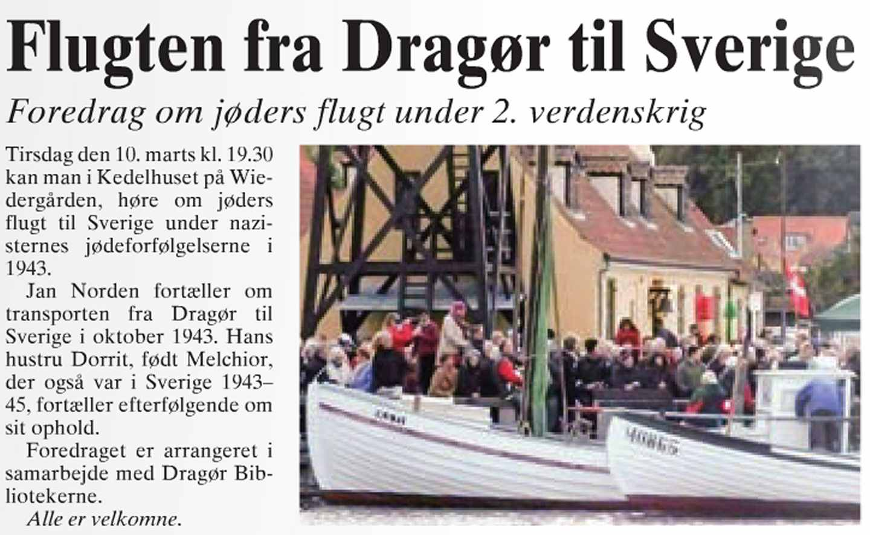 Foredrag - Dorrit og Jan Norden - Flugten til Sverige - Dines Bogø